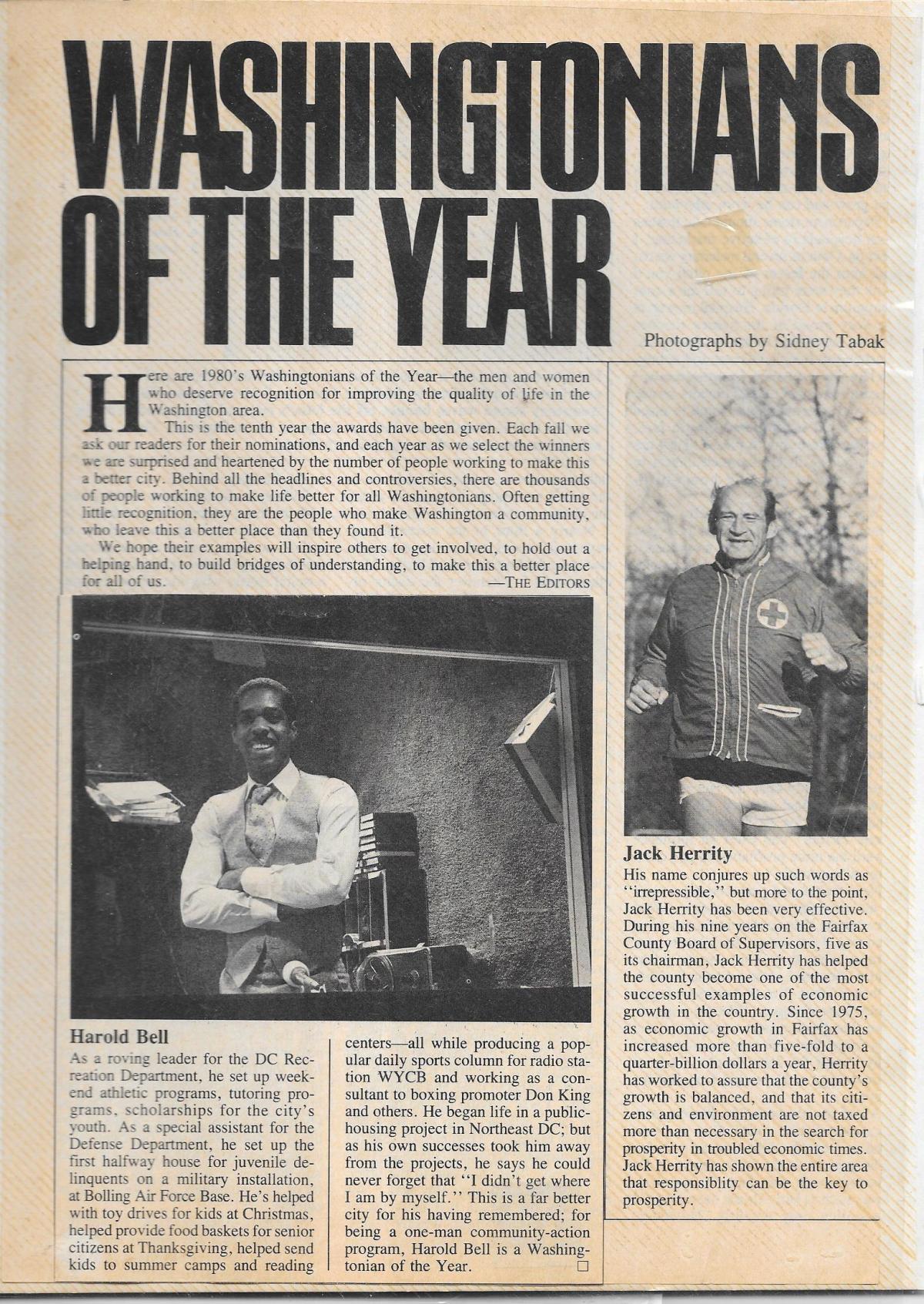 WASHINGTONIAN OF THE YEAR
